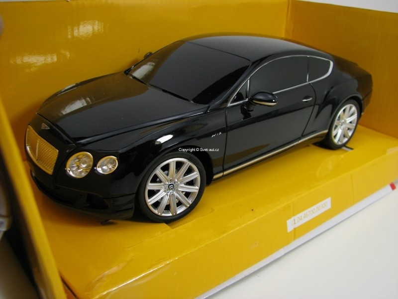 Bentley Continental GT Speed Black RC model 1:24 Rastar 40,680 MHz