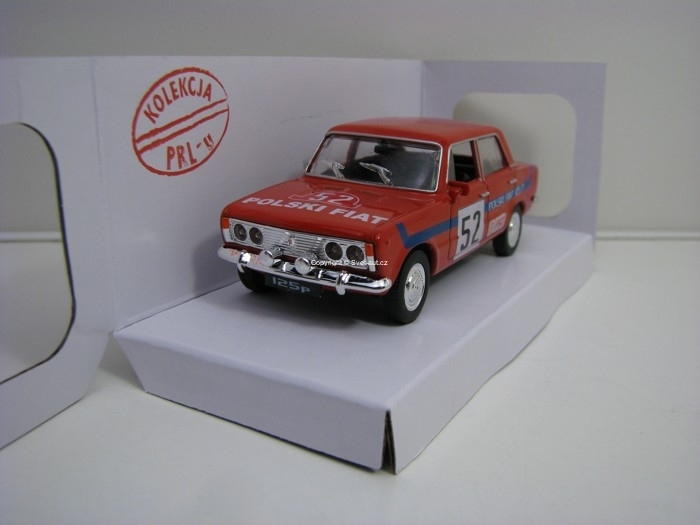 Fiat 125p No.52 Polski Fiat Rally Red 1:43 Daffi