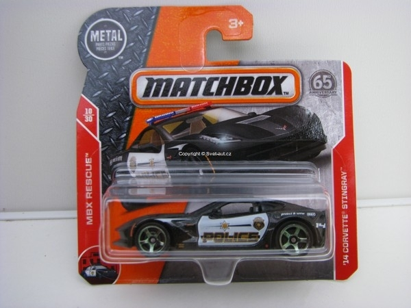 Matchbox 65Th Anniversary 14 Corvette Stingray Police MBX Rescue 10/30