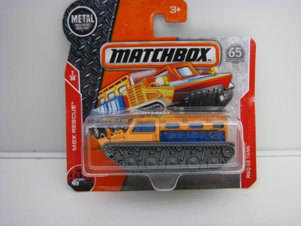 Matchbox 65Th Anniversary RSQ-18 Tank MBX Rescue 7/30