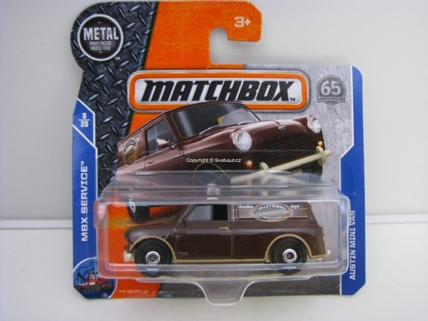 Matchbox 65Th Anniversary Austin Mini Van MBX Service 8/20
