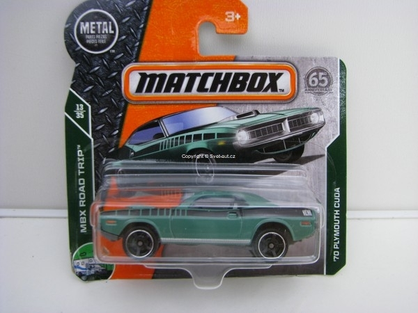 Matchbox 65Th Anniversary 70 Plymouth Cuda MBX Road Trip 13/35