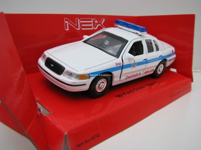 Ford Crown Victoria 1999 Chicago Police Modrý maják 1:32 - 36 Welly