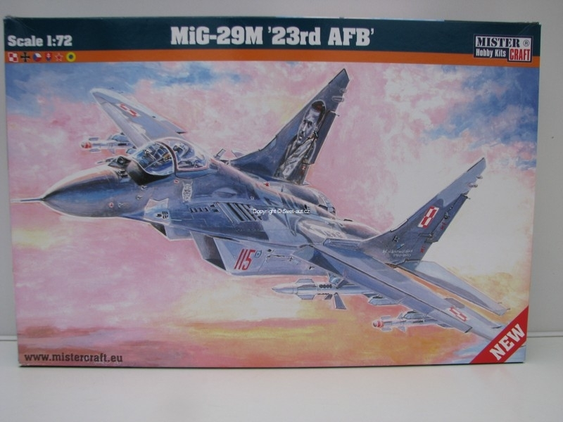 Mig-29M 23rd AFB 1:72 Mister Craft MCRD22