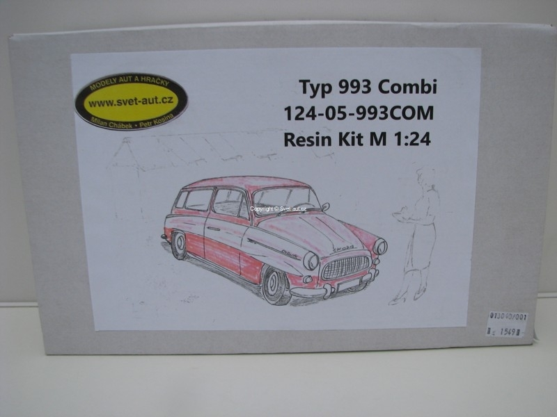 Škoda Typ 993 Combi resin kit 1:24 SAL