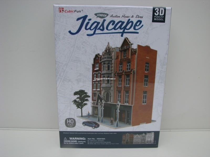Cubic Fun 3D Puzzle 1:87 Auction House a Stores London Jigscape