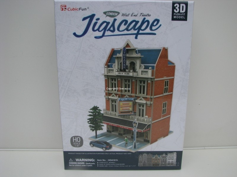 Cubic Fun 3D Puzzle 1:87 West End Theatre London Jigscape