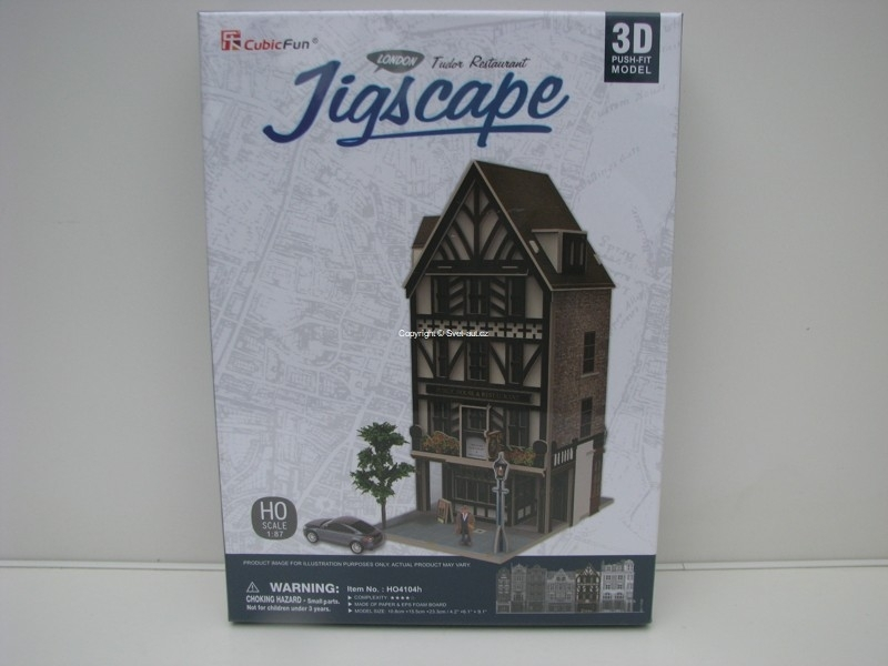 Cubic Fun 3D Puzzle 1:87 Tudor Restaurant London Jigscape