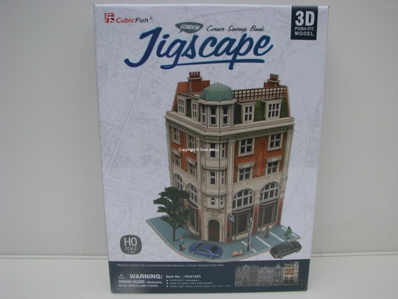 Cubic Fun 3D Puzzle 1:87 Corner Savings Bank London Jigscape