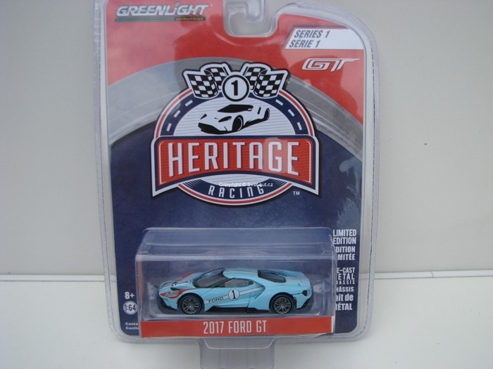 Ford GT 2017 No.1 Blue 1:64 Heritage Racing