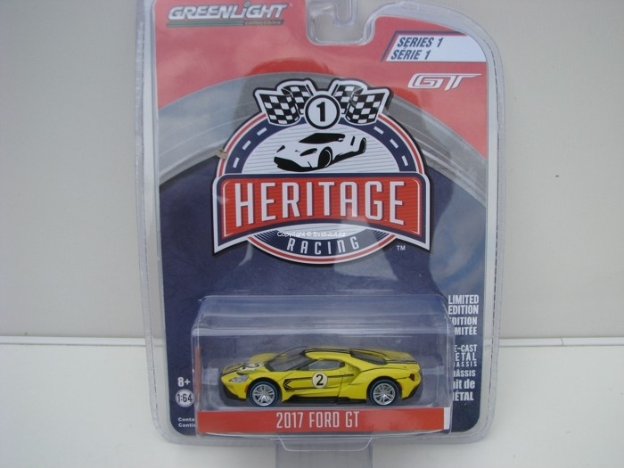 Ford GT 2017 No.2 Yellow 1:64 Heritage Racing