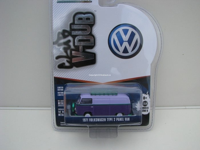 Volkswagen Type 2 Panel Van 1971 1:64 Club V-Dub série 6 Greenlight