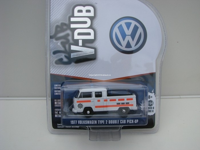 Volkswagen Type 2 Double Cab Pick-Up 1977 1:64 Club V-Dub série 6 Greenlight