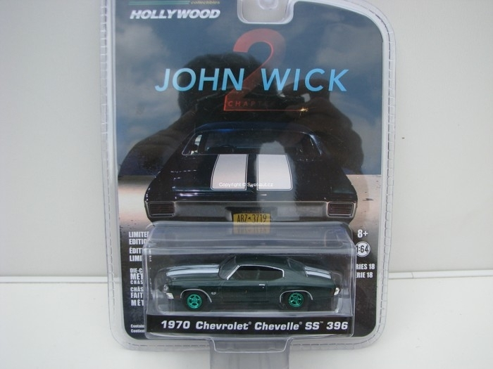 Chevrolet Chevelle SS 396 1970 John Wick 2 1:64 Hollywood Greenlight
