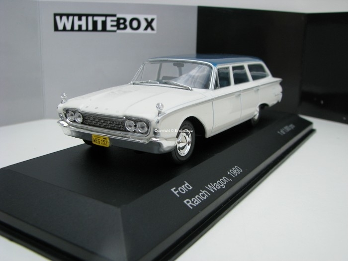 Ford Ranch Wagon 1960 White/Blue 1:43 White Box