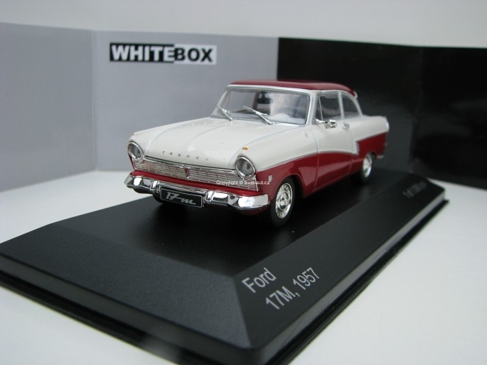 Ford Taunus 17M 1957 Red/White 1:43 White Box