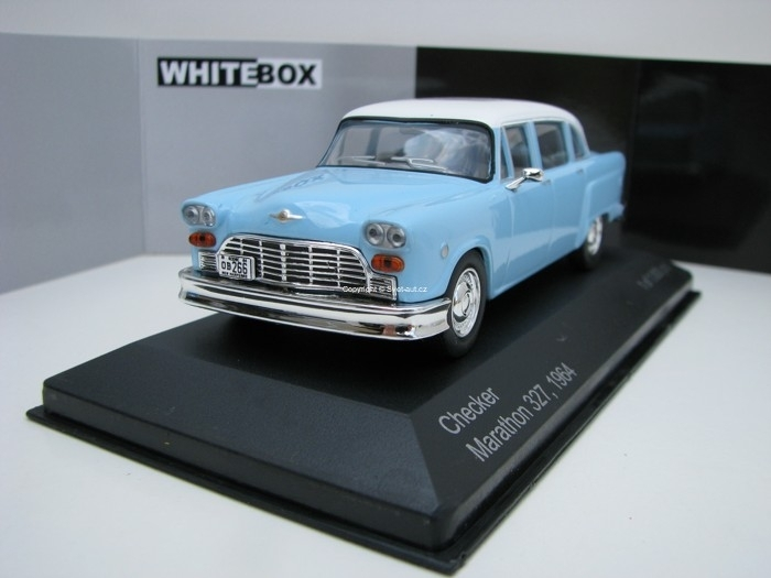 Checker Marathon 327 1964 Blue/White 1:43 White Box