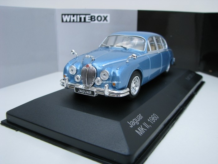 Jaguar MK II 1960 Blue Metallic 1:43 White Box
