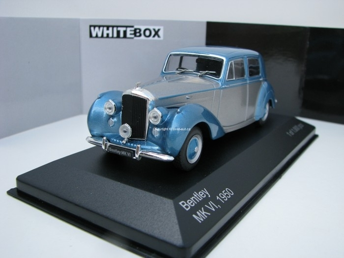 Bentley MK VI 1950 Silver/Blue 1:43 White Box