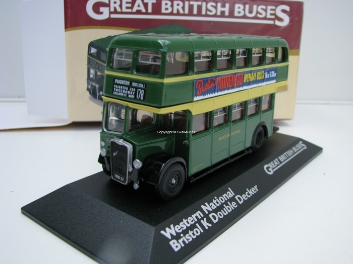 Autobus Western National Bristol K Double Decker 1:76 Great Britisch Buses Atlas Edition