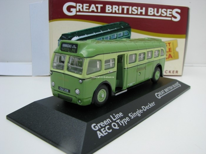 Autobus AEC Q Type Single Decker 1:76 Great Britisch Buses Atlas Edition
