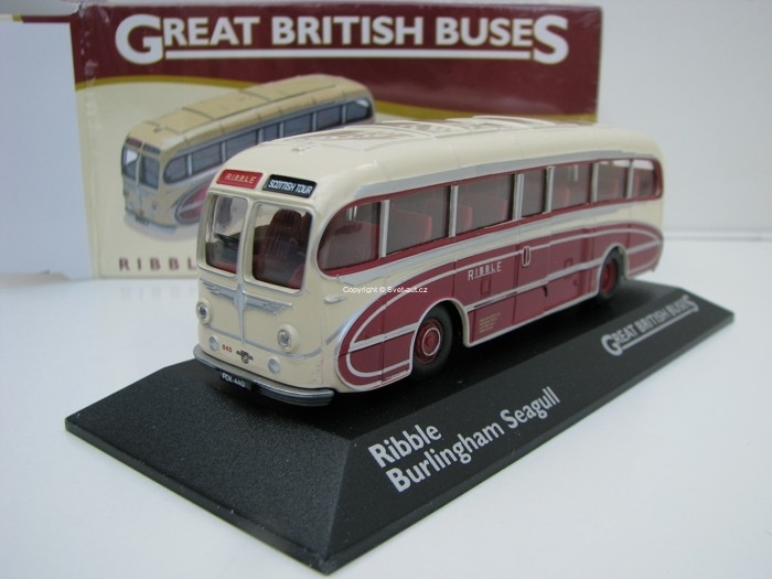 Autobus Ribble Burlingham Seagull 1:76 Great Britisch Buses Atlas Edition