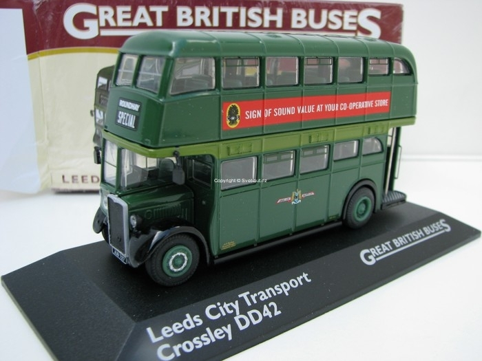 Autobus Crossley DD42 Leeds City Transport 1:76 Great Britisch Buses Atlas Edition