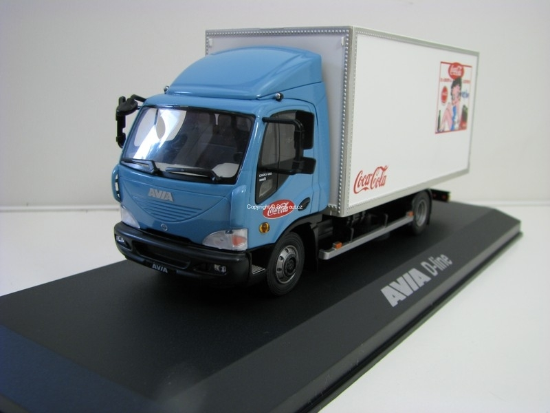 Avia D-Line Pick Up s plachtou Coca Cola Blue 1:43 Foxtoys