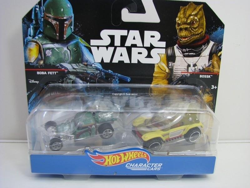 Hot Wheels Star Wars Character cars Boba Fett a Bosk DJM07