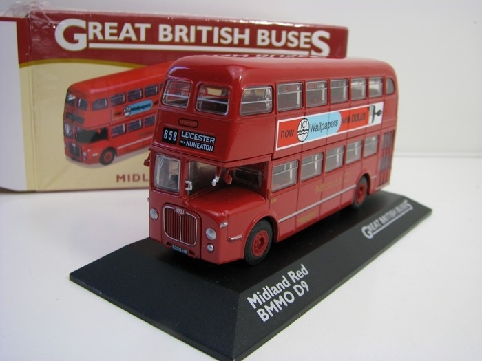 Autobus BMMO D9 Midland Red 1:76 Great Britisch Buses Atlas Edition