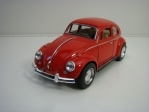 Volkswagen Classical Beetle 1967 Red Pull back 1:32 Kinsmart
