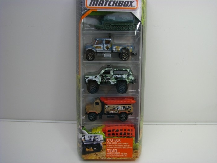 Matchbox 5Pack Jungle Army auta DVL87