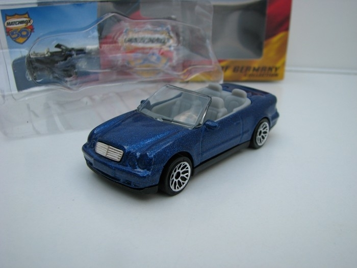 Mercedes-Benz CLK Cabrio Blue 1:60 Stars Of Germany Matchbox