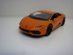 Lamborghini Huracán LP 610-4 Orange Pull back 1:36 Kinsmart