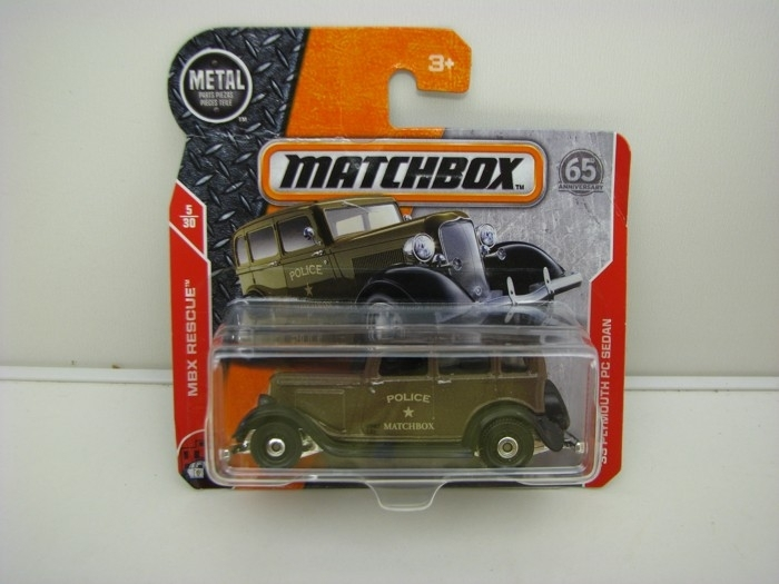 Matchbox 65Th Anniversary 33 Plymouth PC Sedan MBX Rescue 5/30