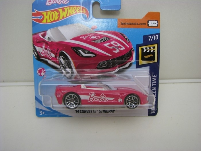 Corvette Stingray 2014 Barbie HW Screen Time 7/10 Hot Wheels
