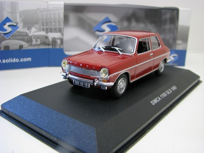 Simca 1100 GLS 1969 Bordeaux 1:43 Solido