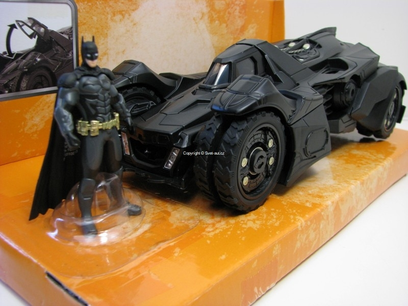 Batman Arkham Knight Batmobile 6 Batman Figure 1:24 Jada Toys