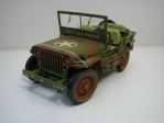 Jeep Willys Military Police 1941 Dirty 1:18 Triple 9 Collection
