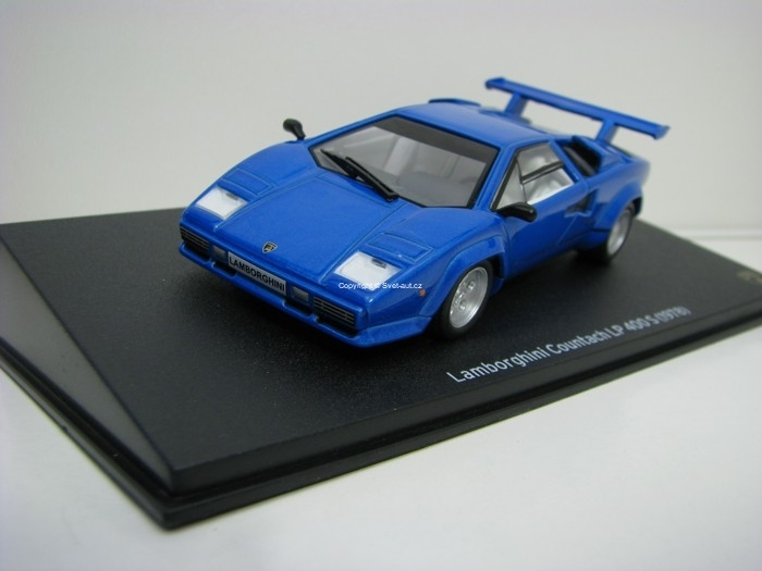Lamborghini Countach LP 400 S 1978 Blue 1:43 Atlas