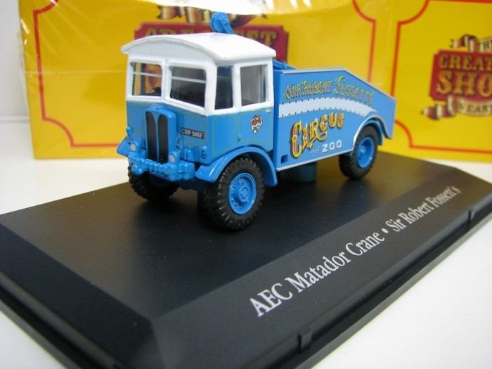 AEC Matador Crane Cirkus  ZOO Sir Robert Fossett 1:76 The Greatest Show On Earth