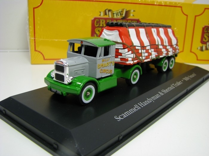 Scammell Handyman a Sheeted Trailer Cirkus Billy Smarts 1:76 The Greatest Show On Earth