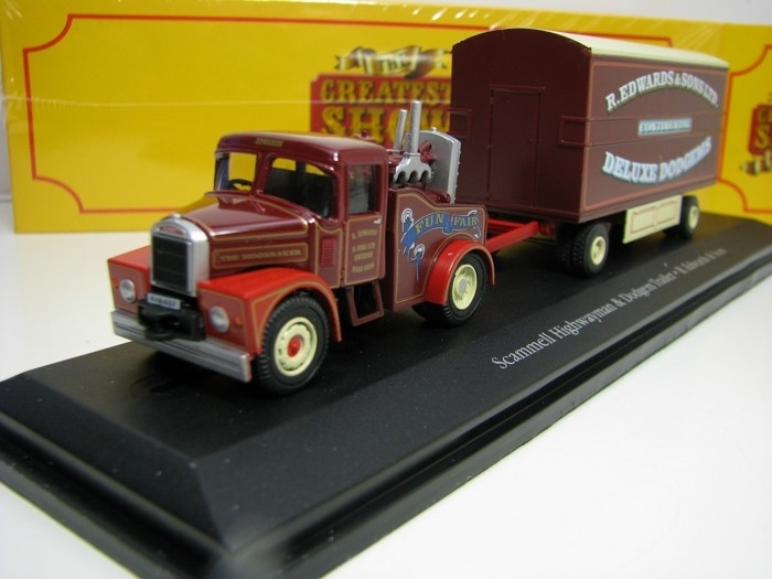 Scammell Highwayman a Dodgem Trailer 1:76 The Greatest Show On Earth