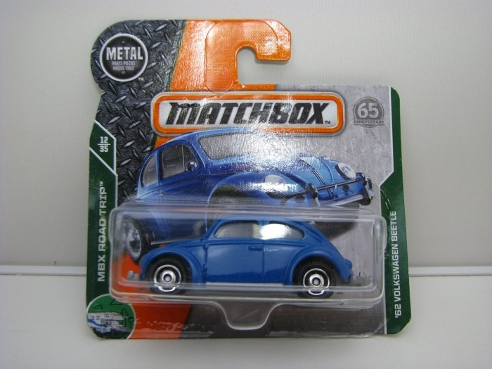 Matchbox 65Th Anniversary Volkswagen Beetle 1962 Blue MBX Road Trip 12/35