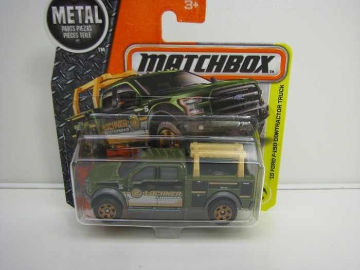 Ford F-150 Contractor Truck 2015 Matchbox 2016 blistr