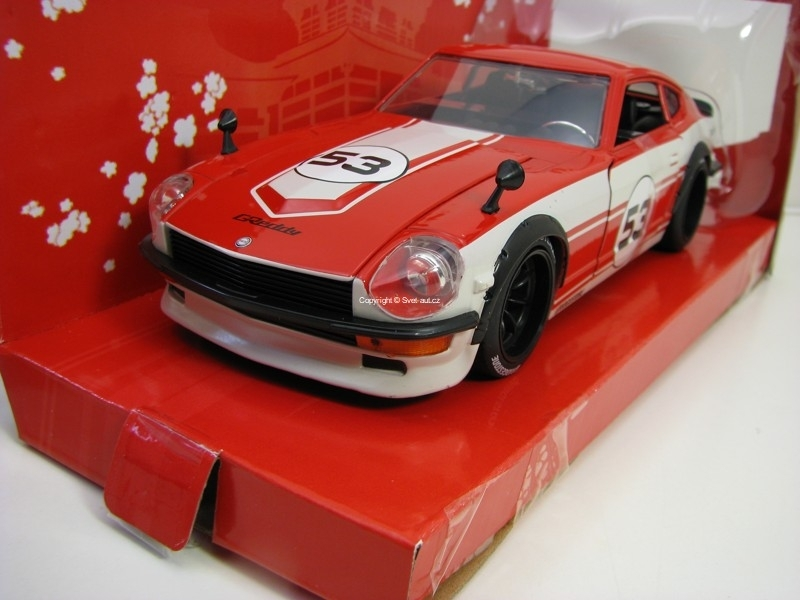Datsun 240Z 1972 No.53 Red 1:24 JDM Tuners Jada Toys