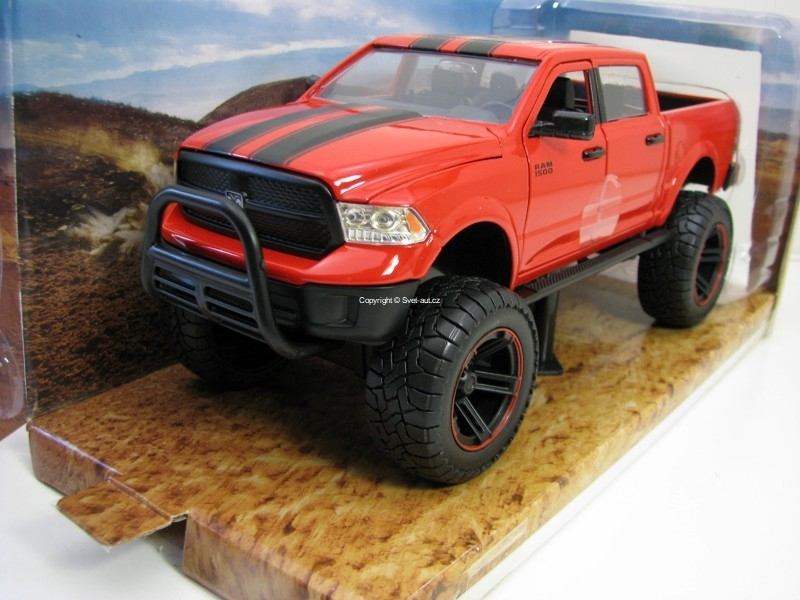 Dodge Ram 1500 2014 OFF Road Red 1:24 Just Trucks Jada Toys