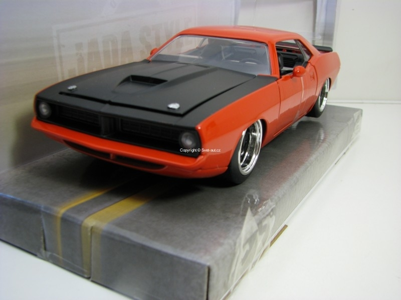 Plymouth Baracuda 1973 Orange 1:24 Big Time Muscle Jada Toys