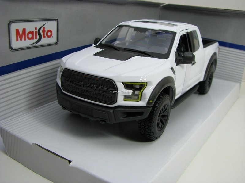 Ford F-150 Raptor SE Trucks 2017 White 1:24 Maisto