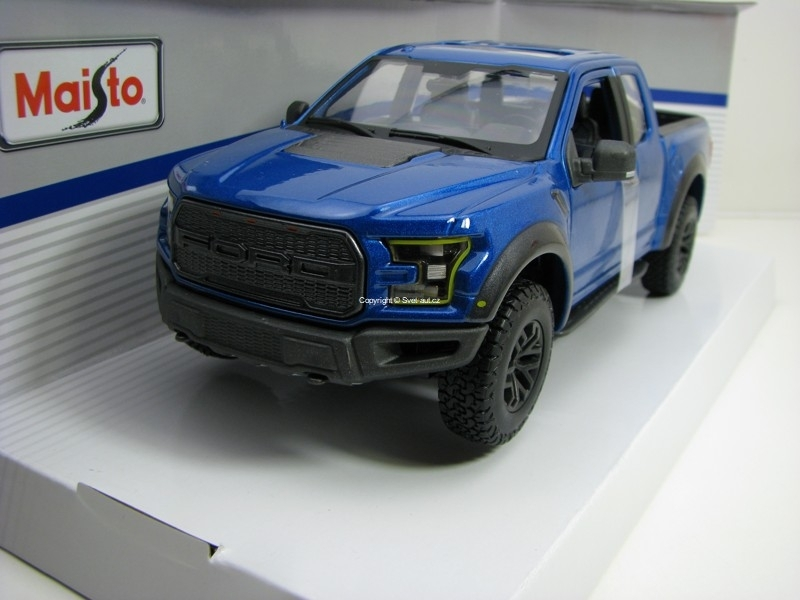 Ford F-150 Raptor SE Trucks 2017 Blue 1:24 Maisto
